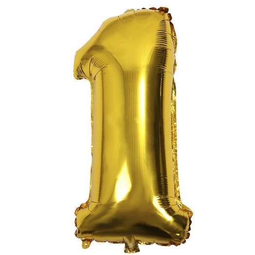 Шар Цифра 1 Золото