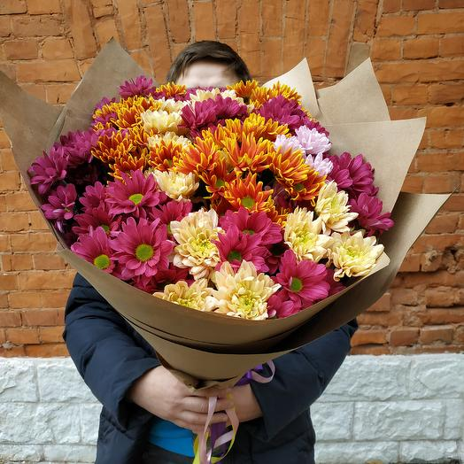 """Bouquet of chrysanthemums """"Autumn whirlwind"""""""