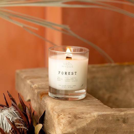 Свеча FOREST 225мл с деревянным фитилём