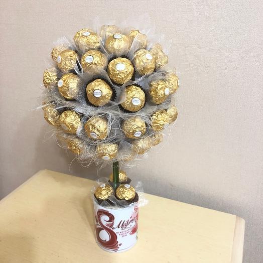 Дерево из конфет Ферреро Роше