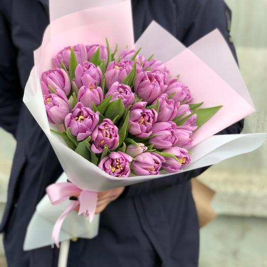 Букет Тюльпаны Лавандовые
