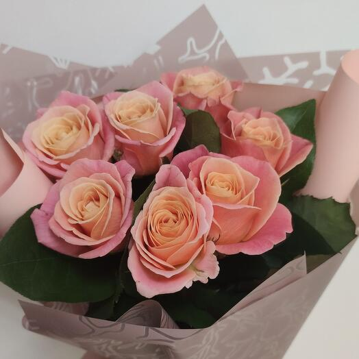Букет комплимент 7 роз