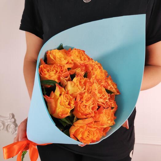 Букет из 15 Огненных роз