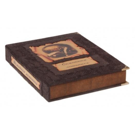 """Книга подарочная в обложке из натуральной кожи """"Семейная летопись"""""""
