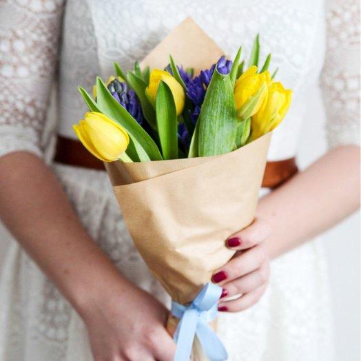 Тюльпаны и Гиацинты: букеты цветов на заказ Flowwow