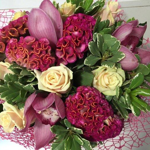 Букет Розовое вдохновение: букеты цветов на заказ Flowwow