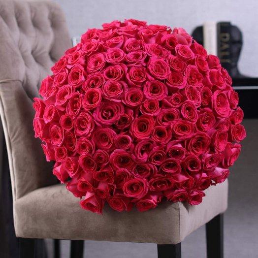 Букет из 101 розы Pink F oyd: букеты цветов на заказ Flowwow