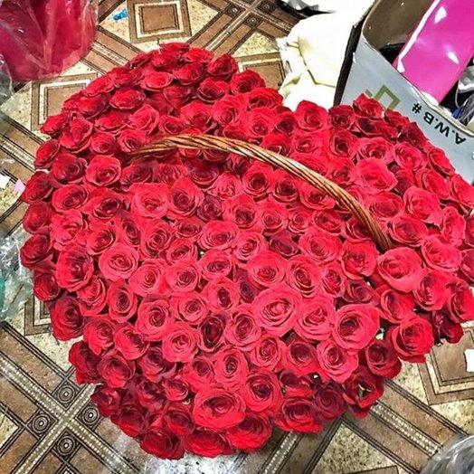 Корзина Премиум 101 ночь: букеты цветов на заказ Flowwow