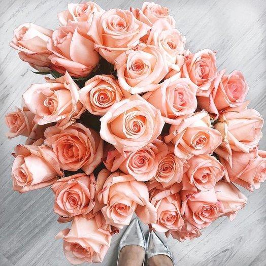 Букет из 33 розовых кенийская роза: букеты цветов на заказ Flowwow