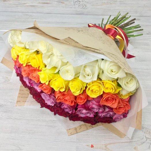 Розы. Букет из 51 розы  N26: букеты цветов на заказ Flowwow