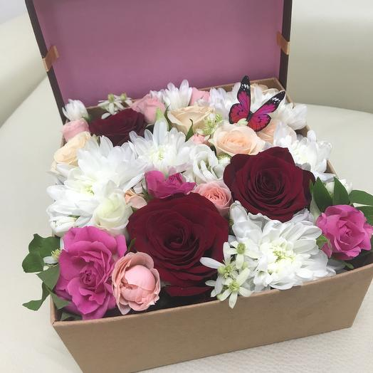 Коробочка Люблю : букеты цветов на заказ Flowwow