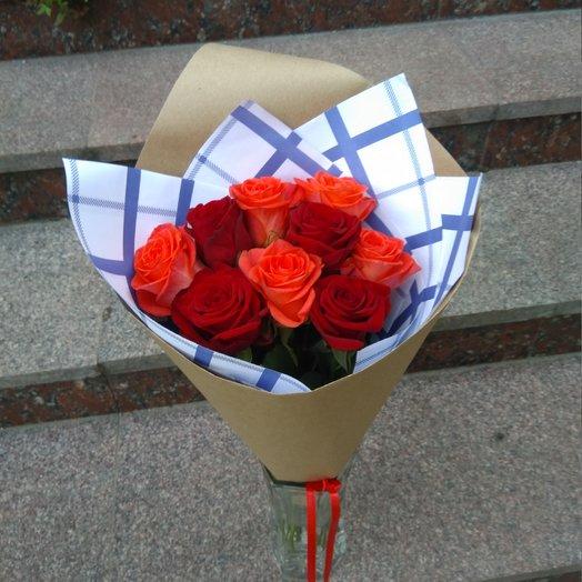 Микс 9 роз: букеты цветов на заказ Flowwow