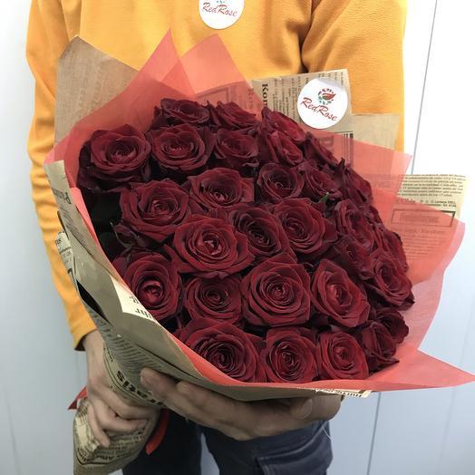 Букет из 29 красных роз: букеты цветов на заказ Flowwow