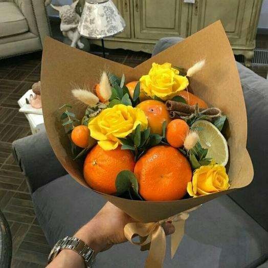 """A bouquet of fruit """"ginger"""": flowers to order Flowwow"""
