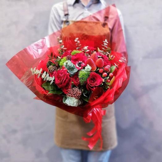 Клубничный Дайкири: букеты цветов на заказ Flowwow