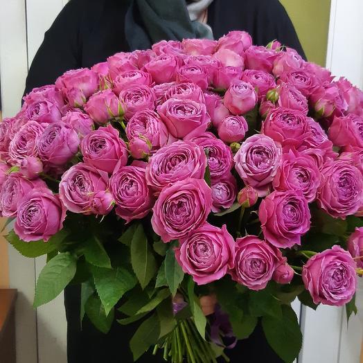 Пионовидная роза 101: букеты цветов на заказ Flowwow