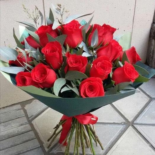19 роз в оформлении: букеты цветов на заказ Flowwow