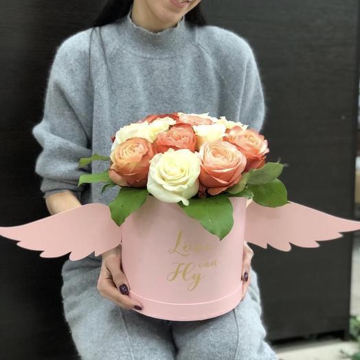 Коробка «Ангел»: букеты цветов на заказ Flowwow