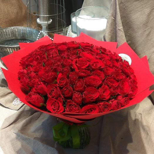 Red rose: букеты цветов на заказ Flowwow