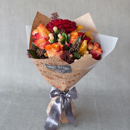 Компактный букет Брюссель: букеты цветов на заказ Flowwow