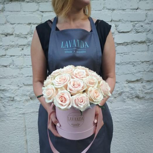 """Шляпная коробка М """"Талея"""": букеты цветов на заказ Flowwow"""