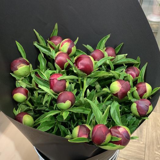 19 пионов: букеты цветов на заказ Flowwow