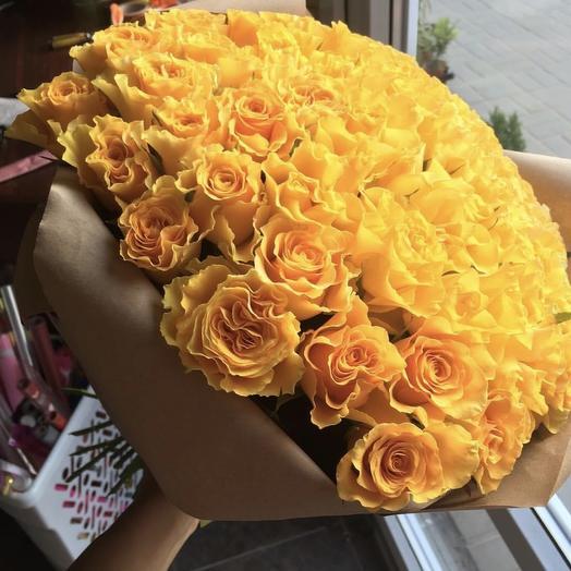 51 YELLOW rose: букеты цветов на заказ Flowwow