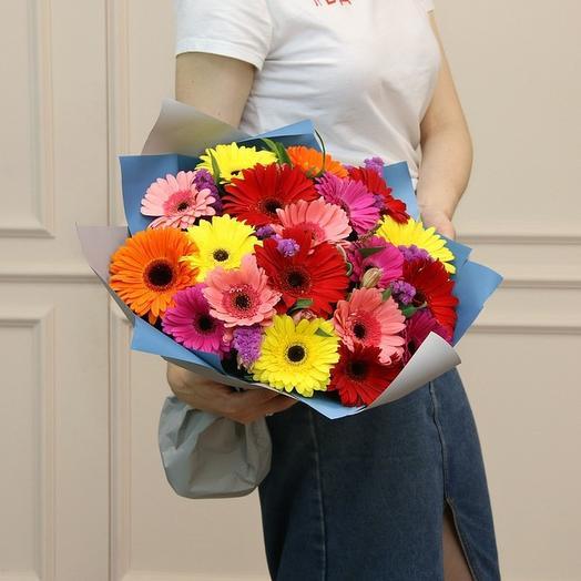 19 гербер со статицей: букеты цветов на заказ Flowwow