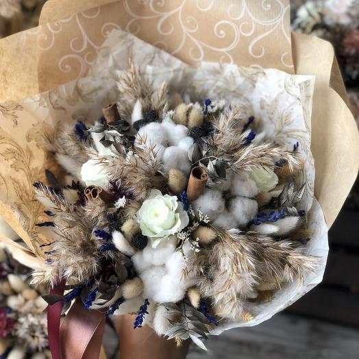Интерьерный букет с стабилизированными розами: букеты цветов на заказ Flowwow