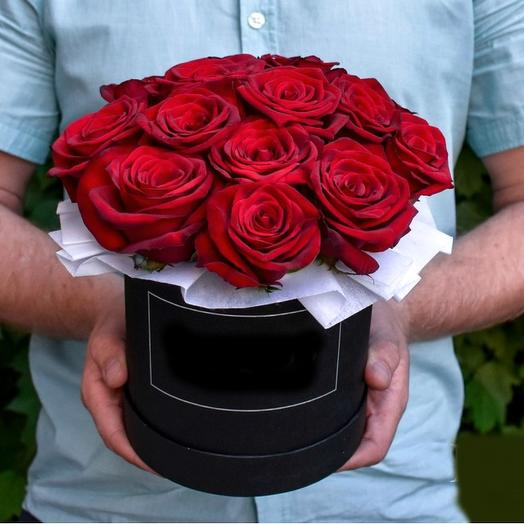 Коробка 15 красных роз