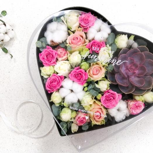 Цветочное сердце для любимой