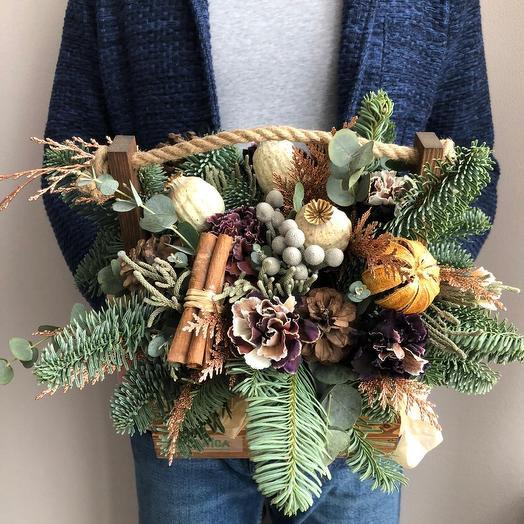 Рождественское настроение: букеты цветов на заказ Flowwow