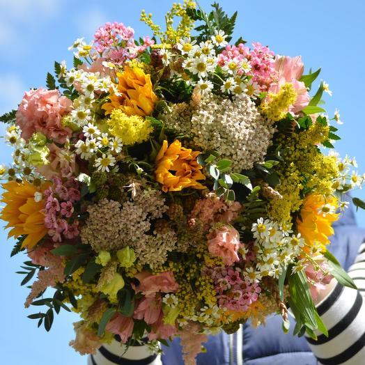 """Букет цветов """"Последний месяц лета: букеты цветов на заказ Flowwow"""
