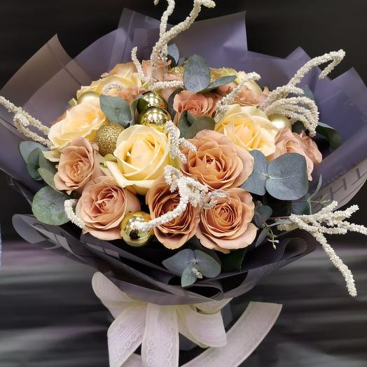 """Авторский букет """"Ости"""": букеты цветов на заказ Flowwow"""