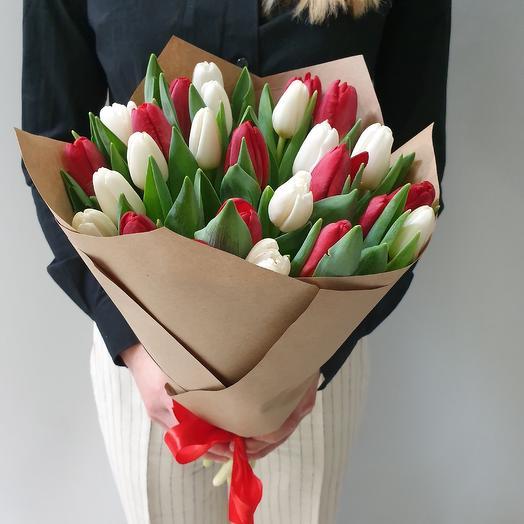 Яркий контрастный микс: букеты цветов на заказ Flowwow