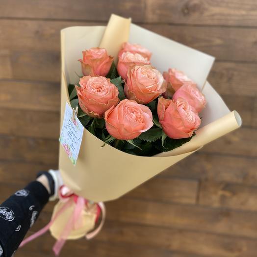 Букет «9 пионовидных роз»
