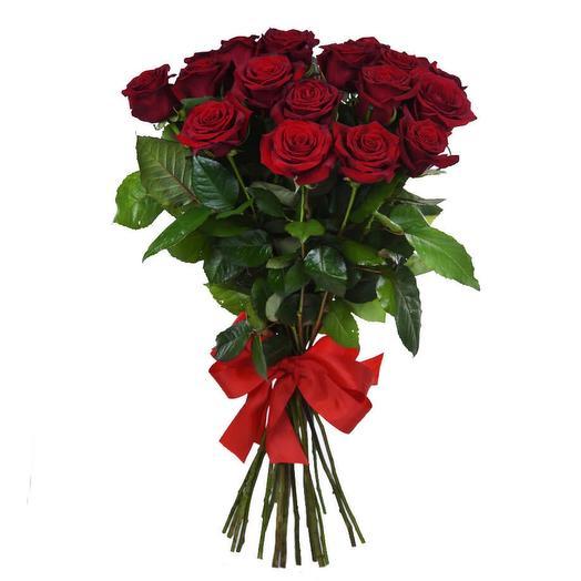 21 Красная роза 80 см