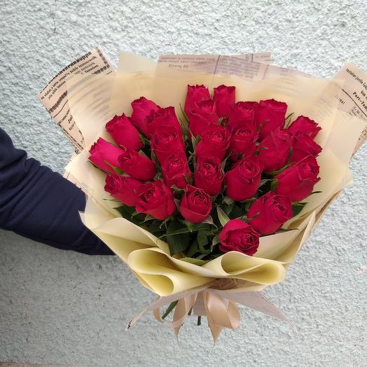 Букет из  роз: букеты цветов на заказ Flowwow