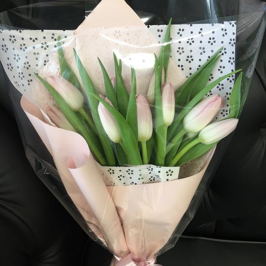 Букет из розовых тюльпанов_11