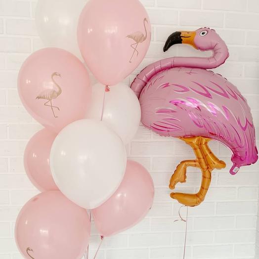 Шарики с фламинго