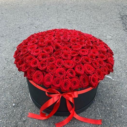 Цветы в коробке 101 Роза 😍