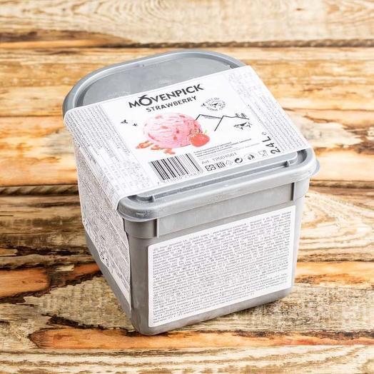 Мороженое клубничное Movenpick 2.4 л