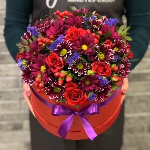 Цветы в коробке 008647