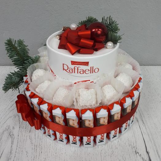 """Торт из конфет """"Новогодний"""""""