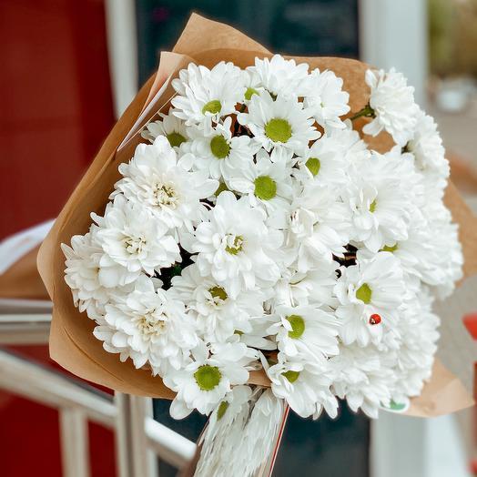 Букет хризантем «Ромашковое поле»
