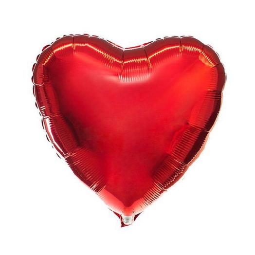 Красное сердце с гелием