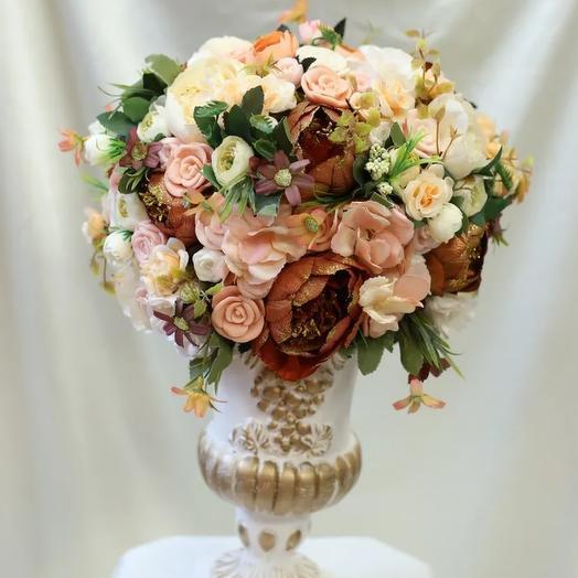 Мыльные розы +ваза