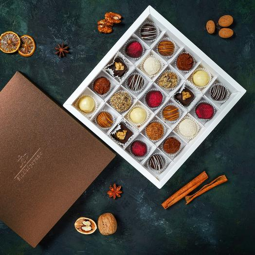 Cheese truffles (sweets), 25 pcs., assorted from 9 flavors