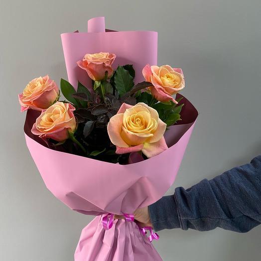 Букет из роз-Нежный