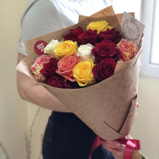 Микс 15 роз 💐